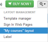 Enabling the course catalogue